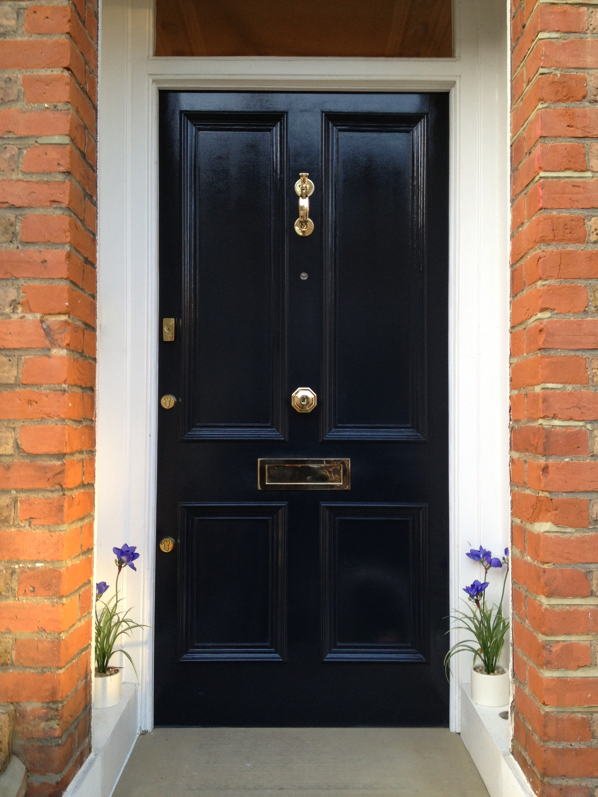 Front door paint colours voysey jones for Exterior door paint