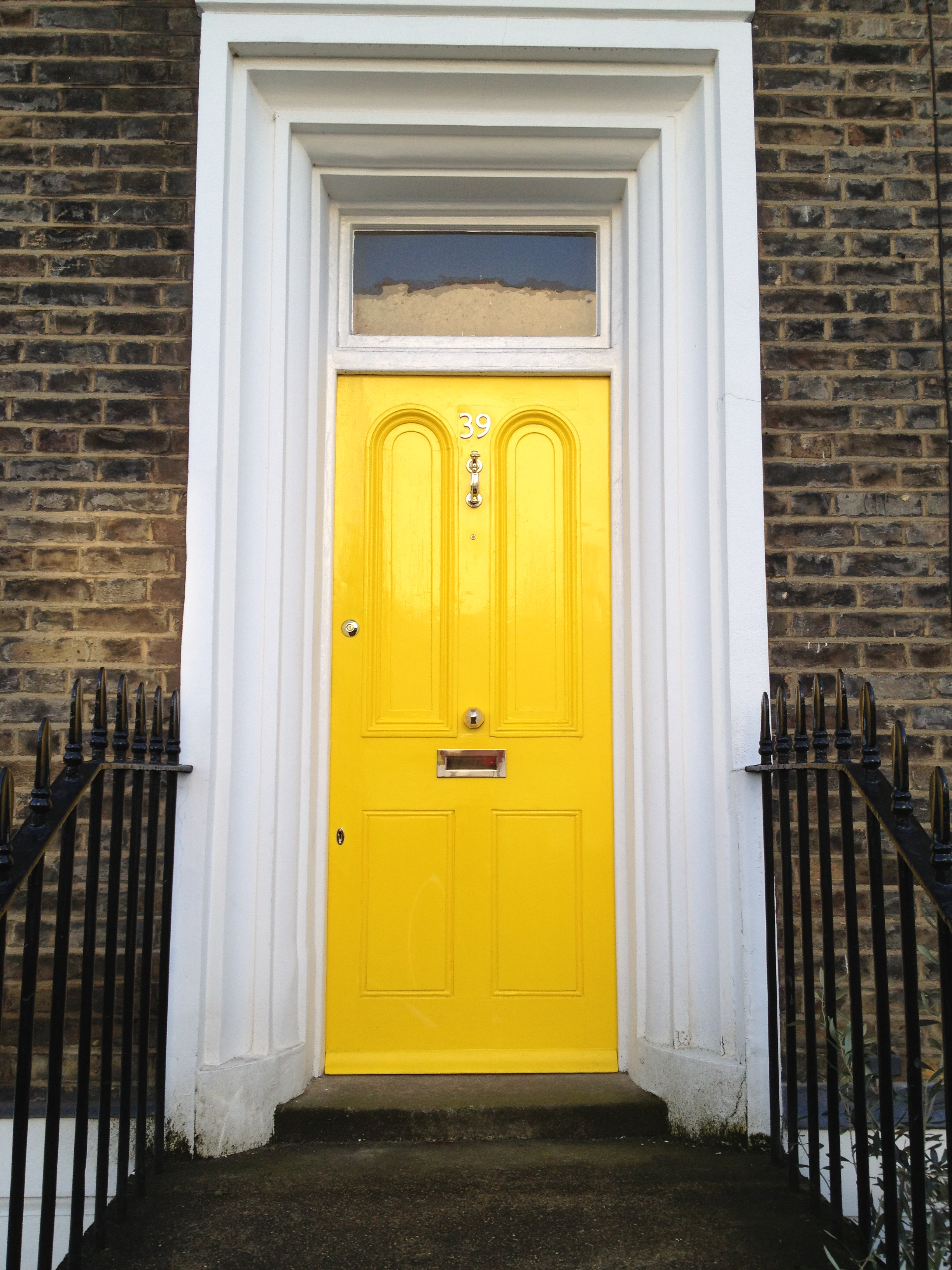 Front door colours voysey jones for Front door yellow paint