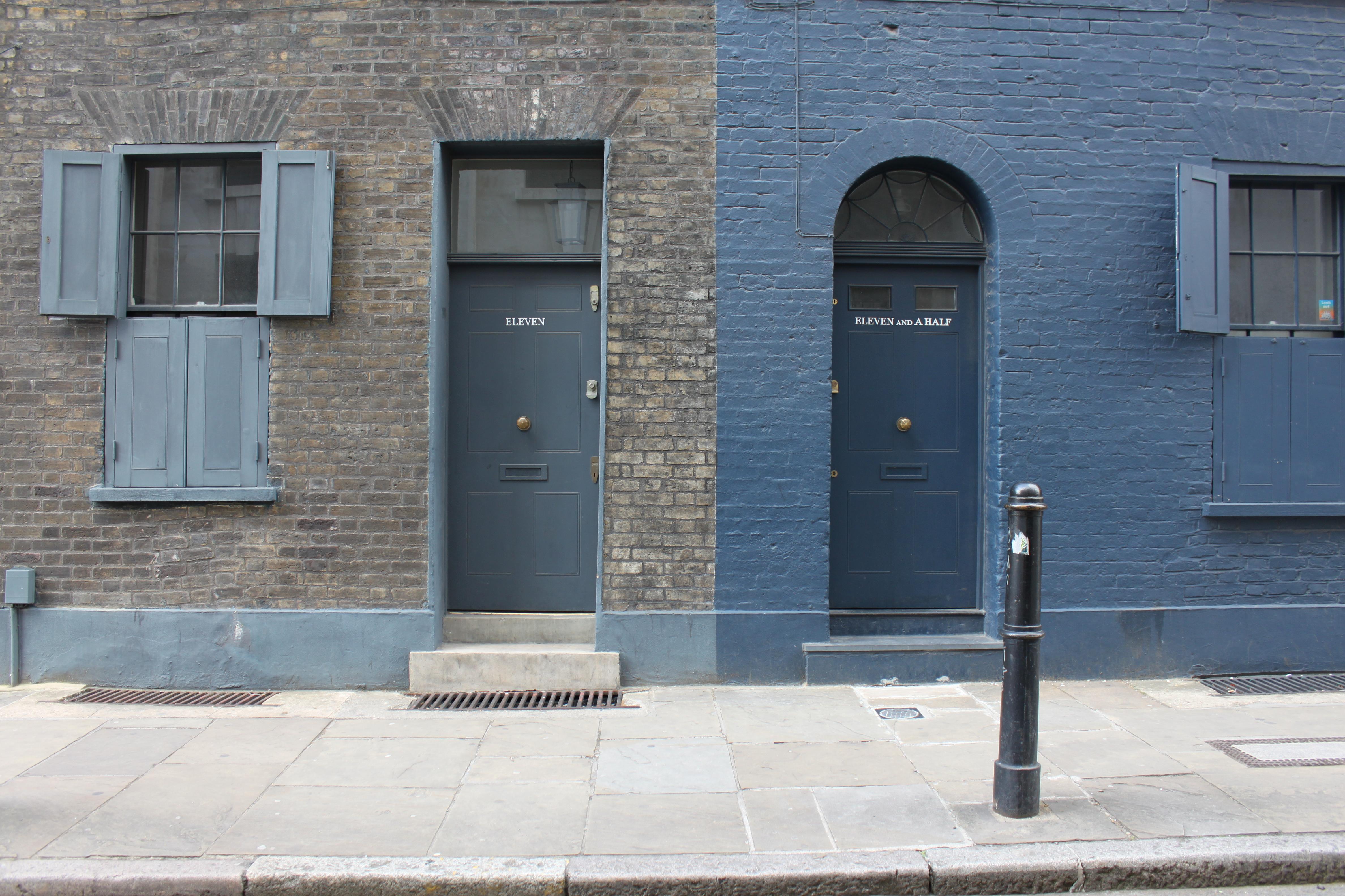 Front door colours voysey jones for Flush front door