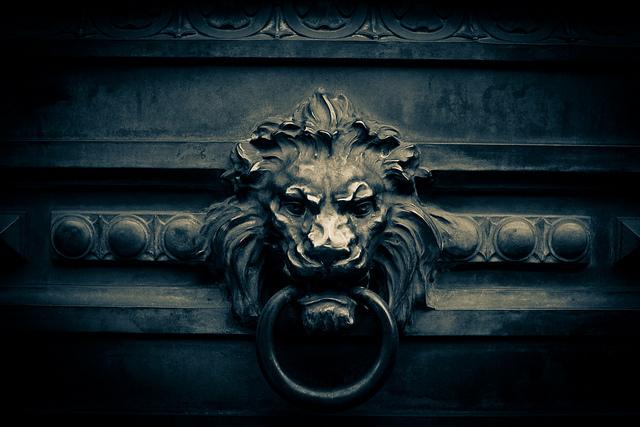Front doors voysey jones - Lion face door knocker ...